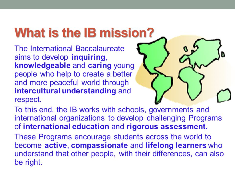 What is the IB mission