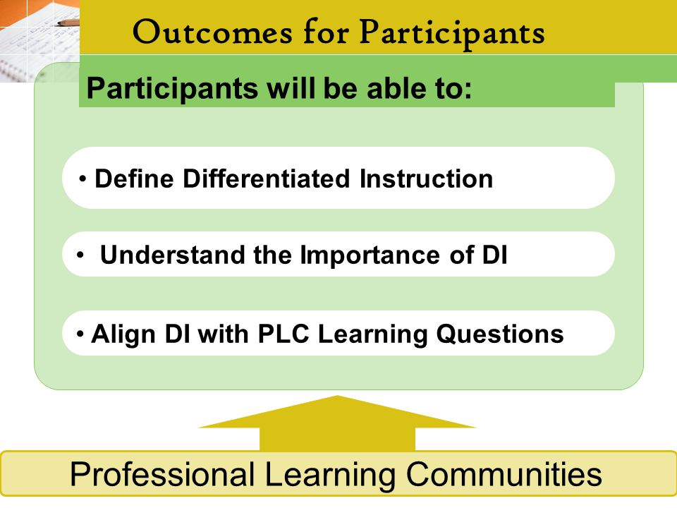 Outcomes for Participants