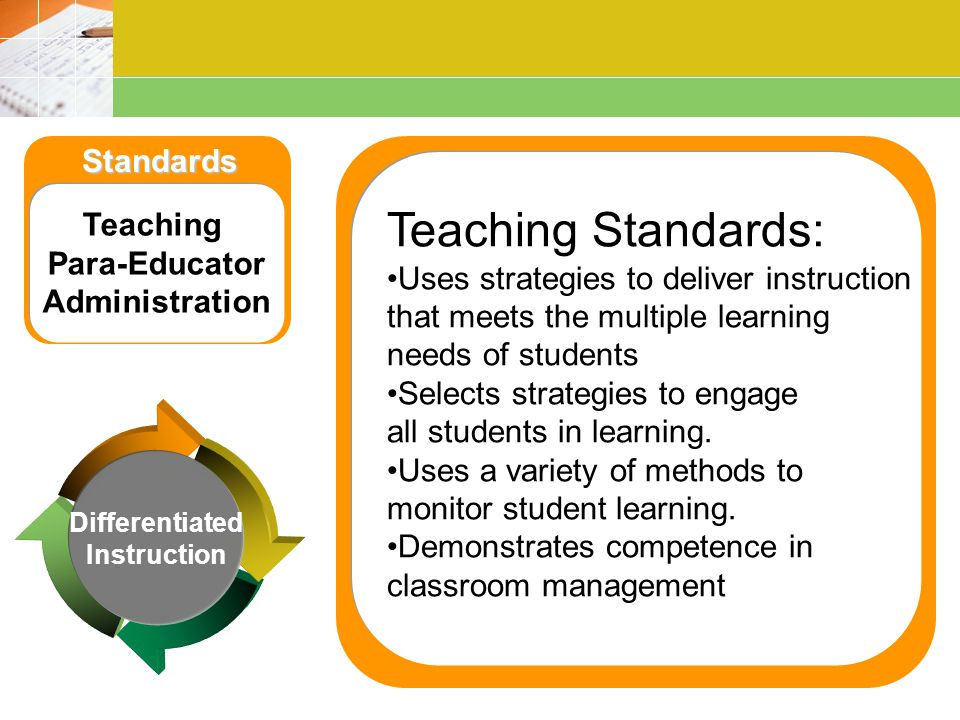 Teaching Standards: Standards Teaching