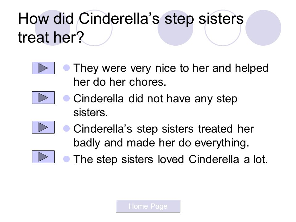 How did Cinderella's step sisters treat her