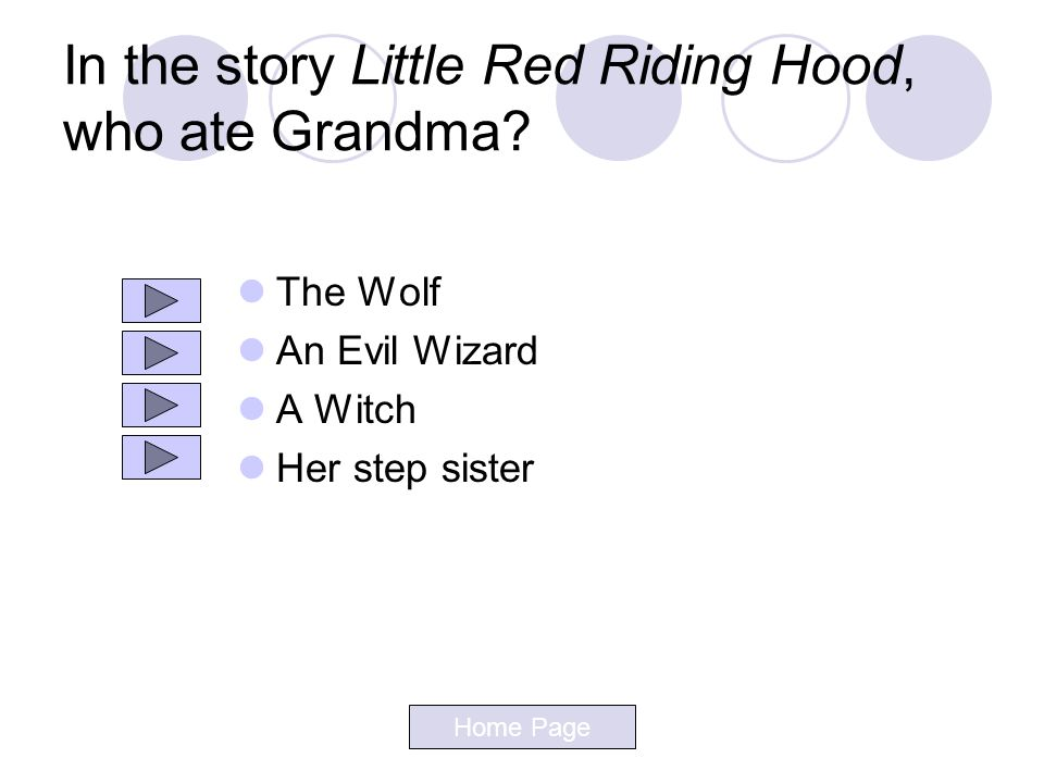 In the story Little Red Riding Hood, who ate Grandma