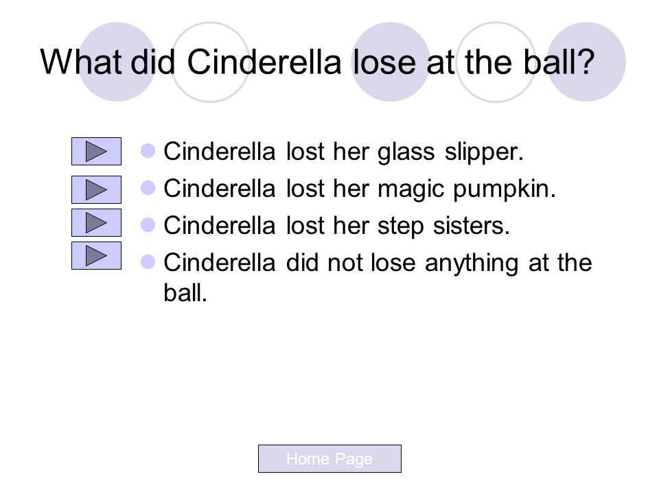 What did Cinderella lose at the ball