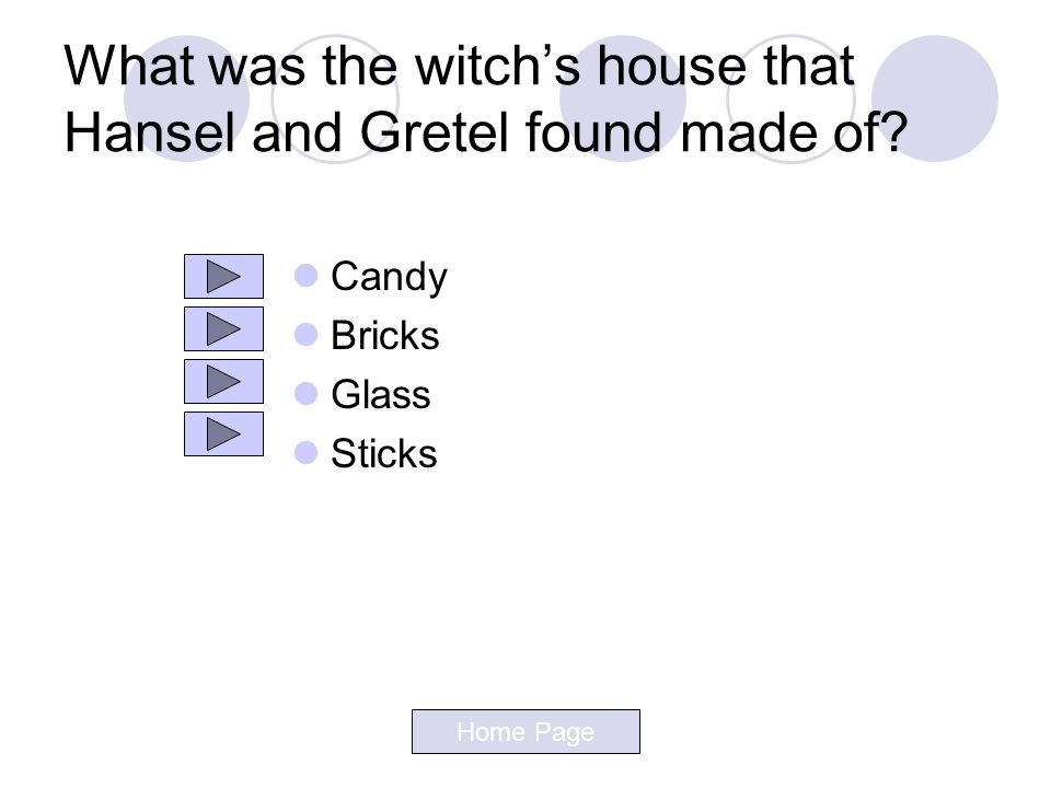 What was the witch's house that Hansel and Gretel found made of