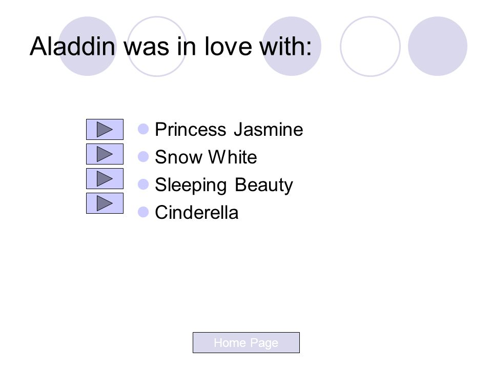 Aladdin was in love with: