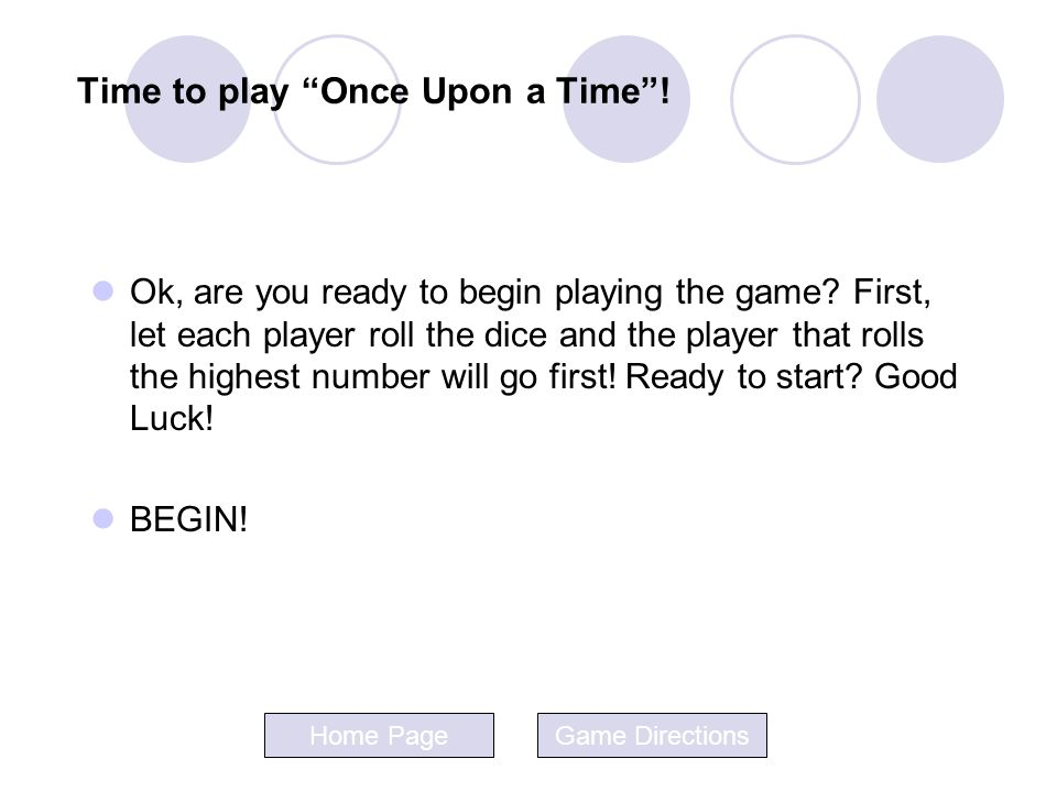 Time to play Once Upon a Time !