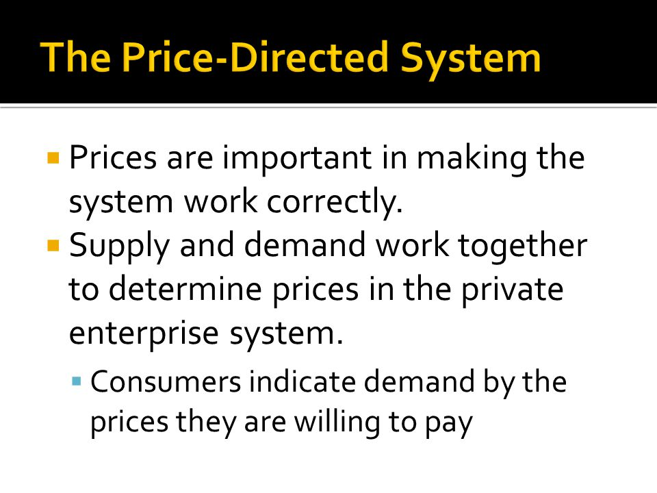The Price-Directed System