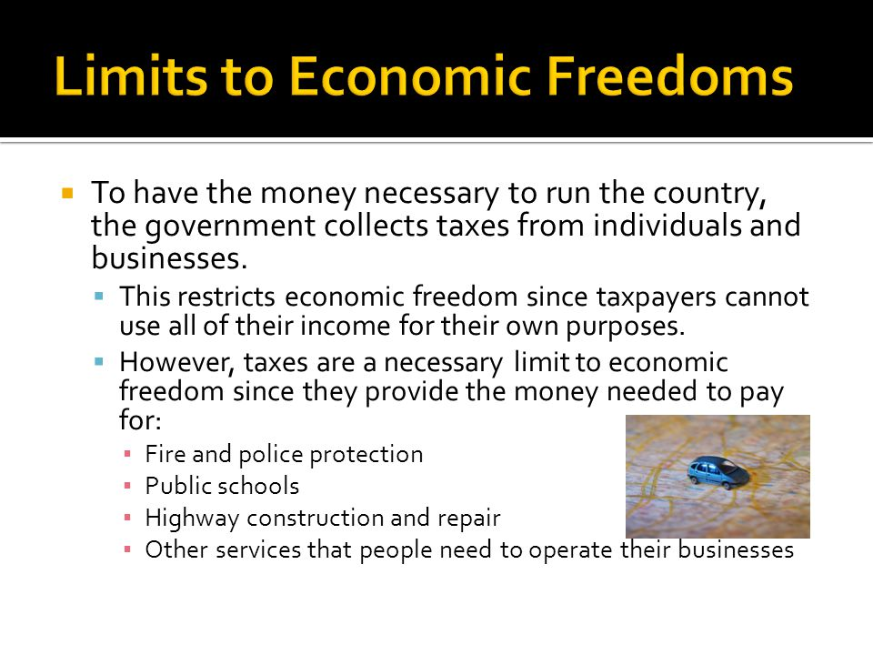 Limits to Economic Freedoms