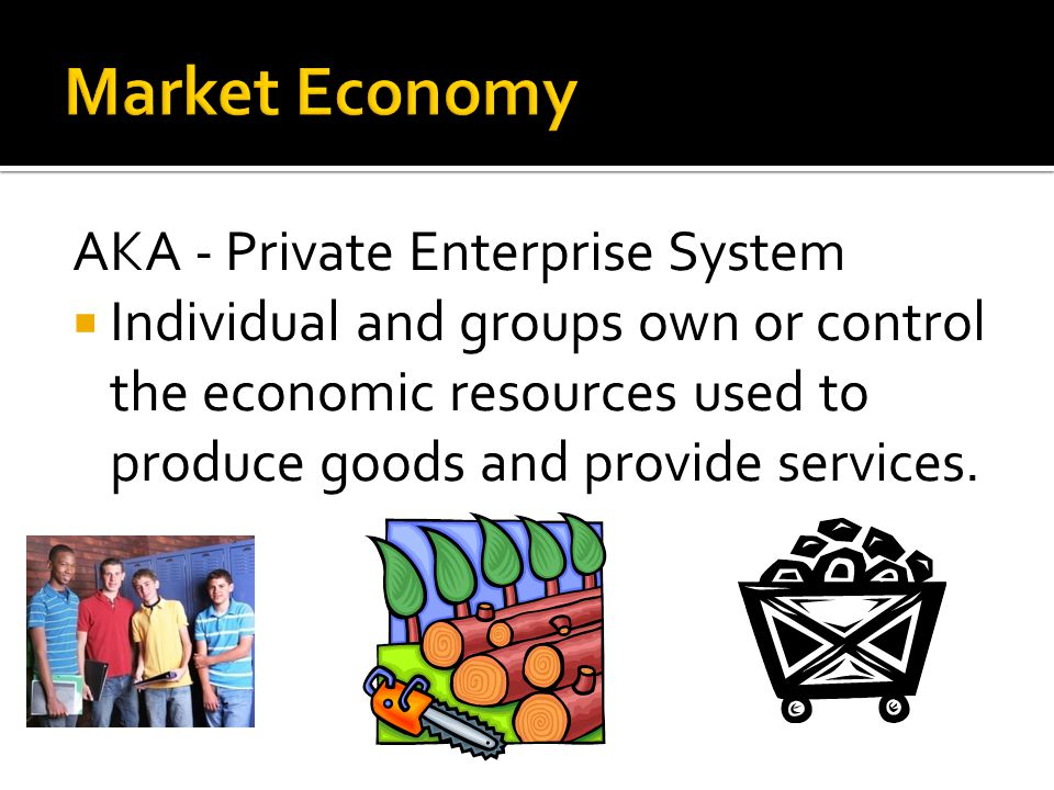 Market Economy AKA - Private Enterprise System