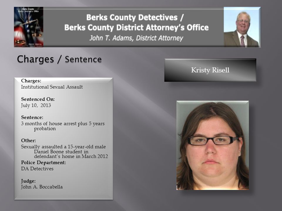 Charges / Sentence Kristy Risell
