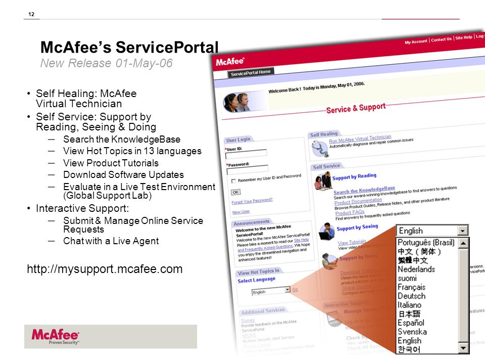 McAfee's ServicePortal New Release 01-May-06