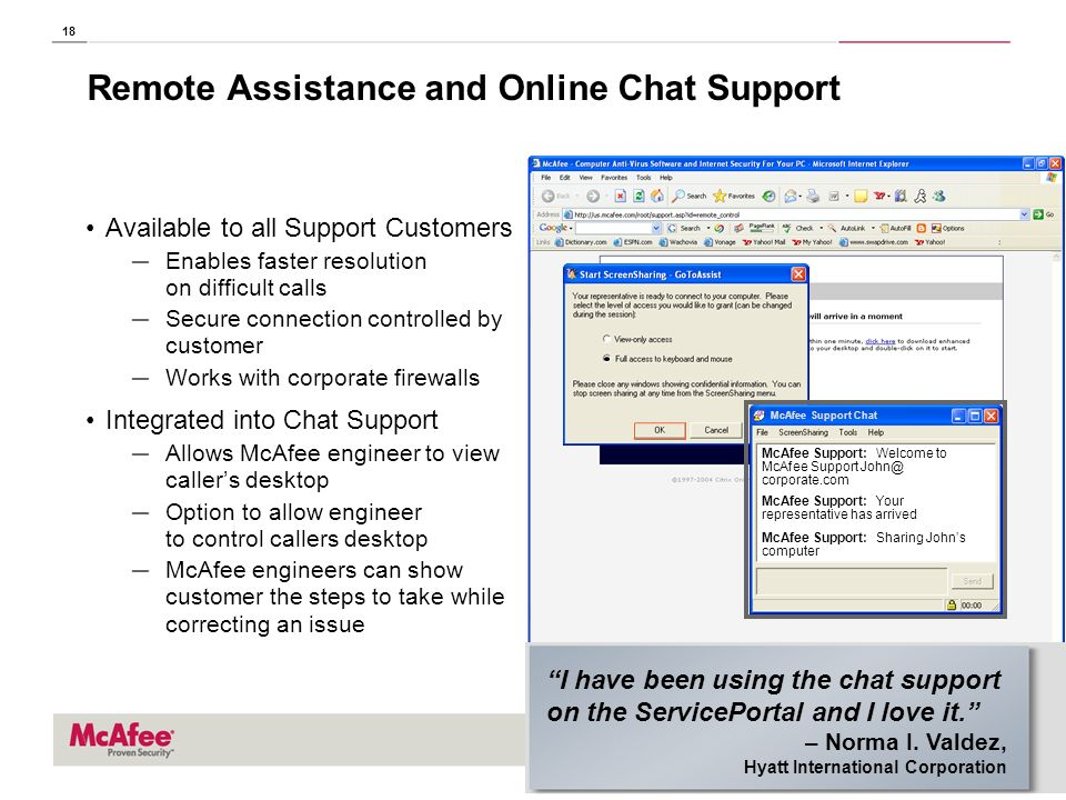 Remote Assistance and Online Chat Support
