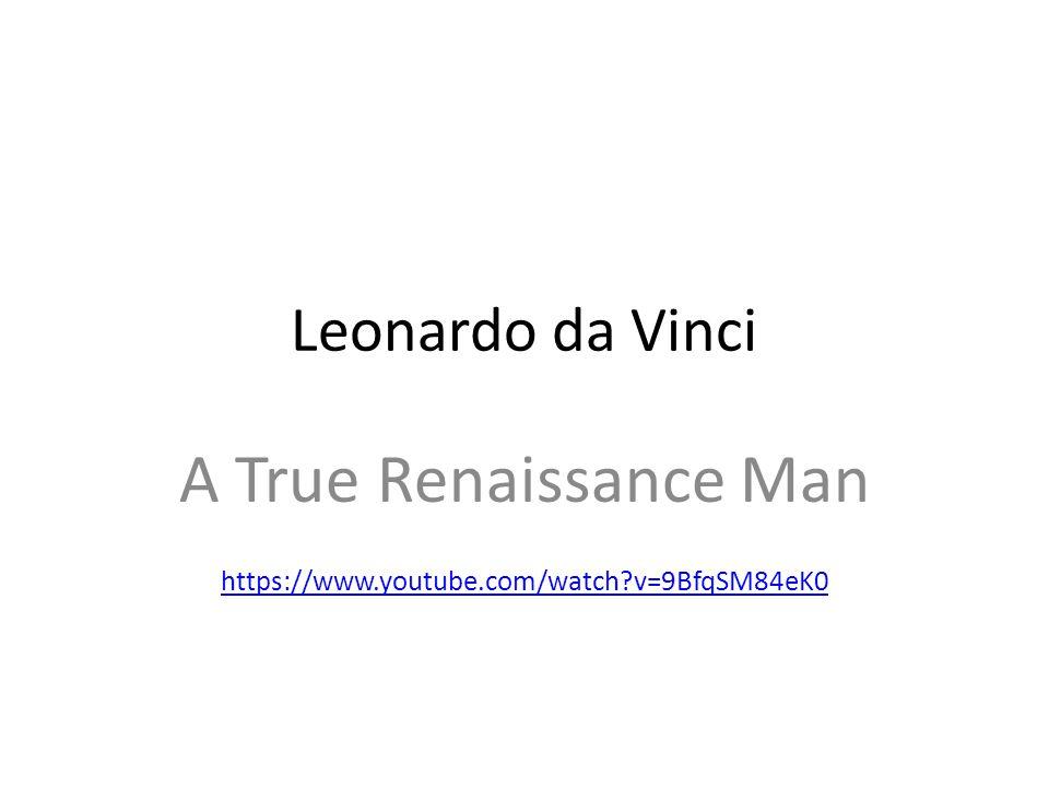 A True Renaissance Man https://www.youtube.com/watch v=9BfqSM84eK0