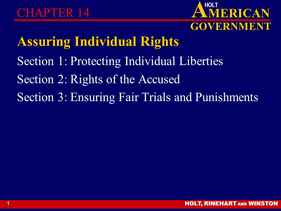 Assuring Individual Rights