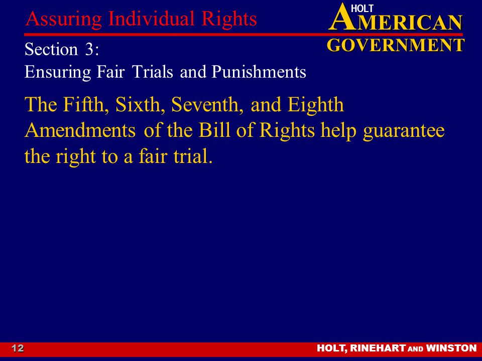 Section 3: Ensuring Fair Trials and Punishments