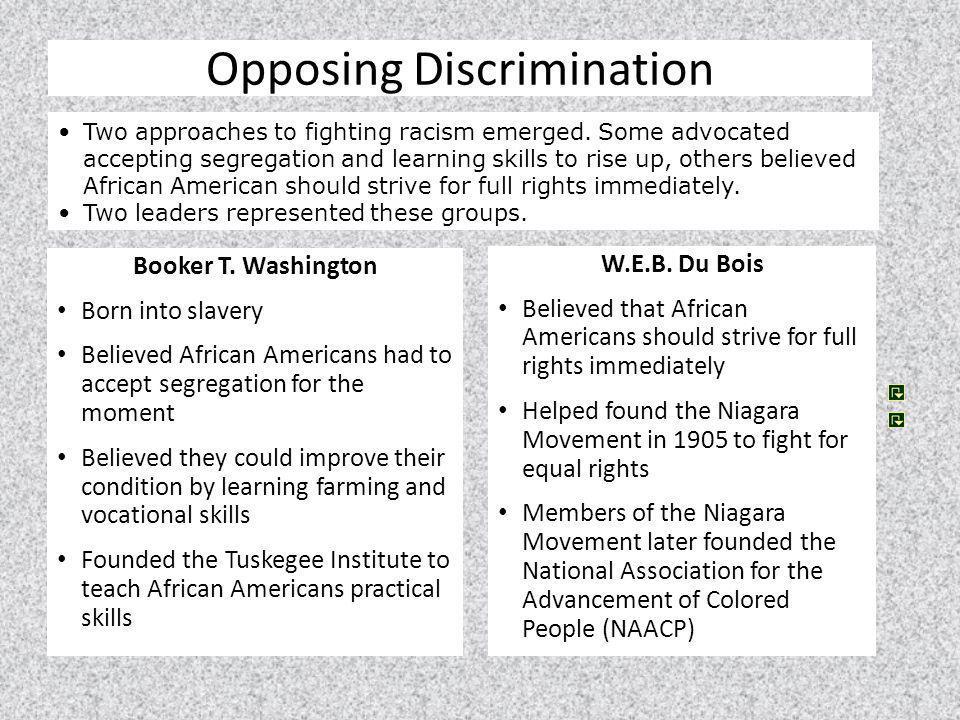 Opposing Discrimination
