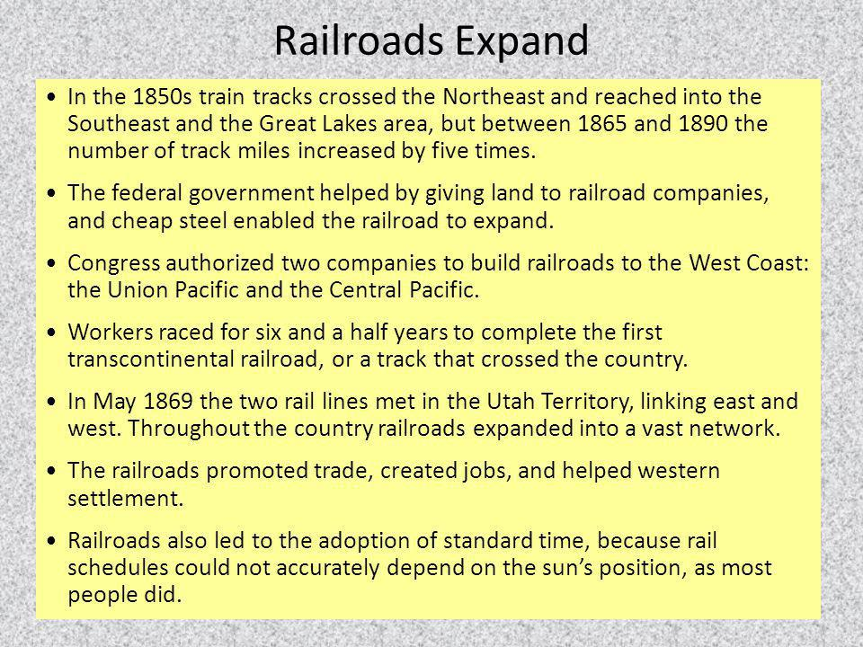Railroads Expand