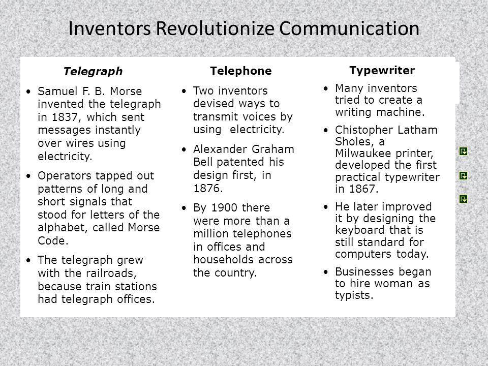 Inventors Revolutionize Communication