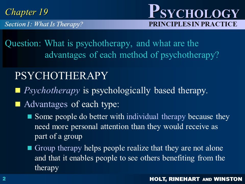 PSYCHOTHERAPY Chapter 19