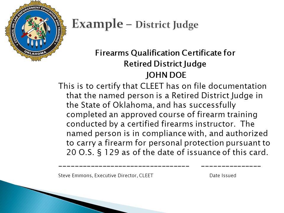 Example – District Judge