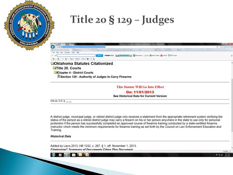 Title 20 § 129 – Judges