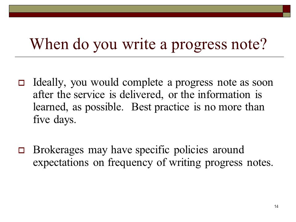 Case Management And Progress Notes - Ppt Video Online Download