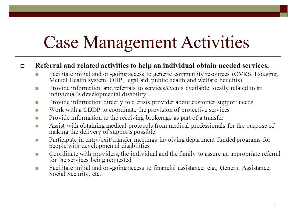 Case Management Activities
