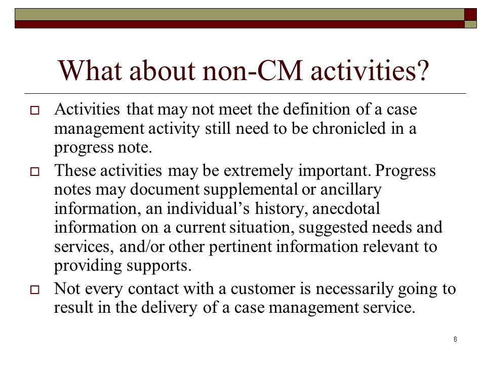 What about non-CM activities