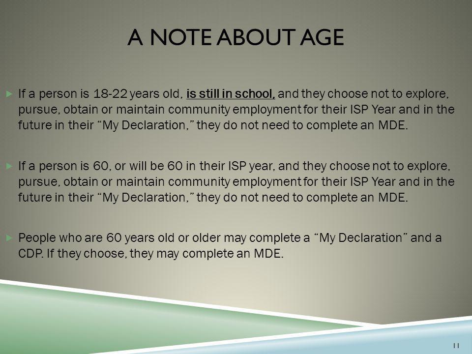 A Note About age