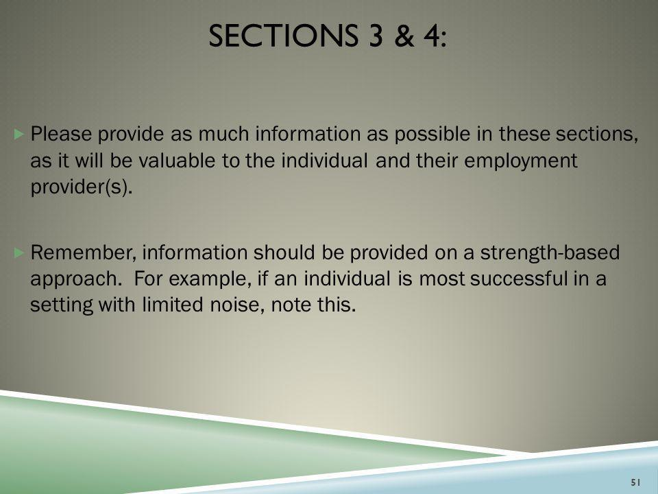 Sections 3 & 4: