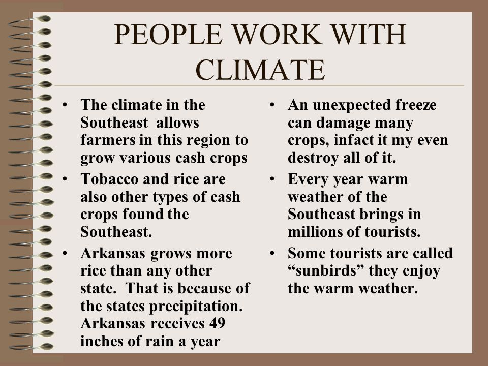 PEOPLE WORK WITH CLIMATE