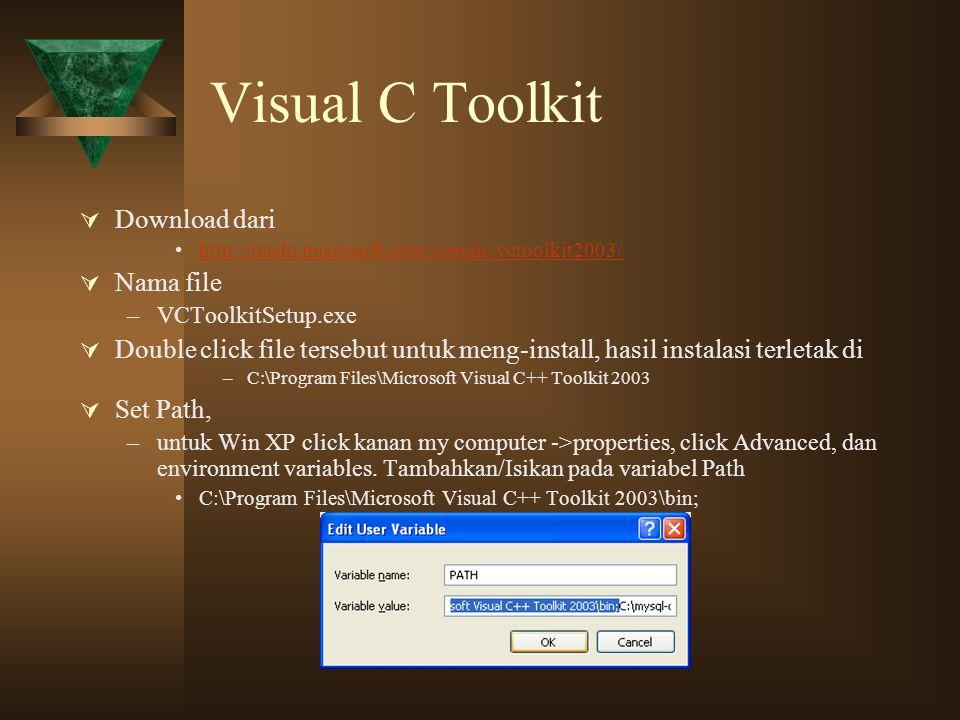 Visual C Toolkit Download dari Nama file