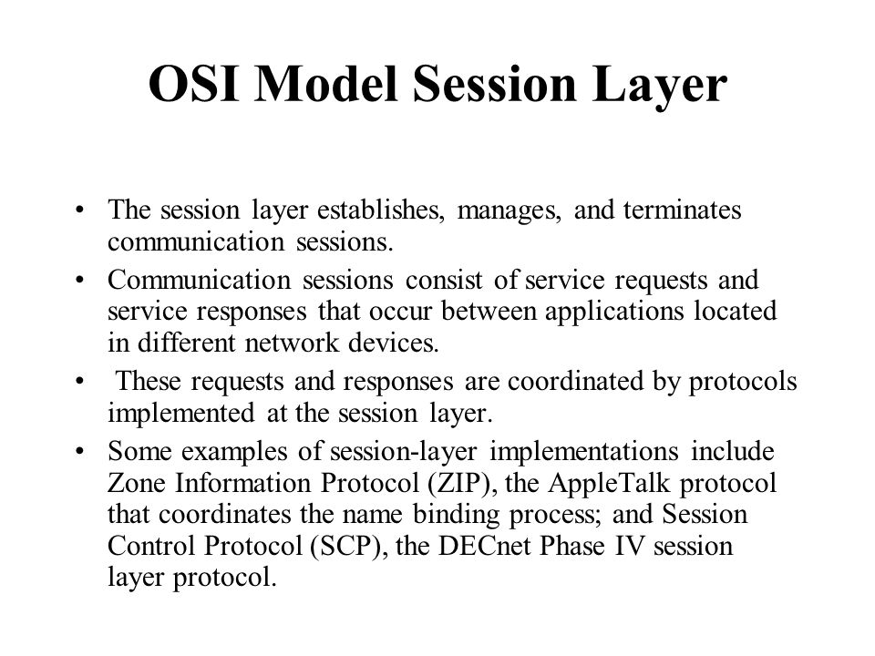 OSI Model Session Layer