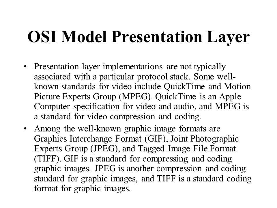 OSI Model Presentation Layer