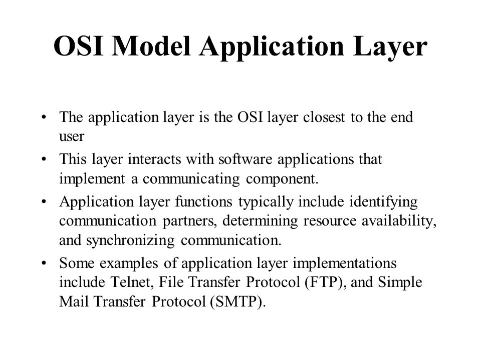 OSI Model Application Layer