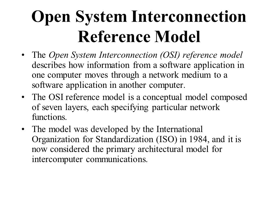 the open system interconection seven layers essay Layers of the open system interconnection identify and discuss the seven layers of the open system interconnection (osi) model and their importance on tcp/ip operation.