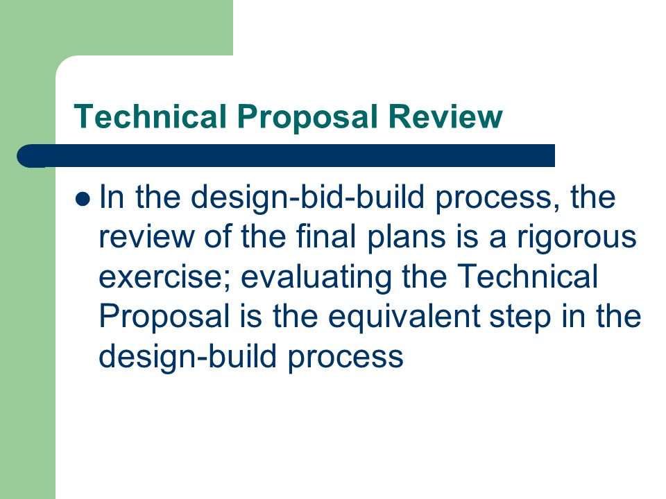 Technical Proposal Review