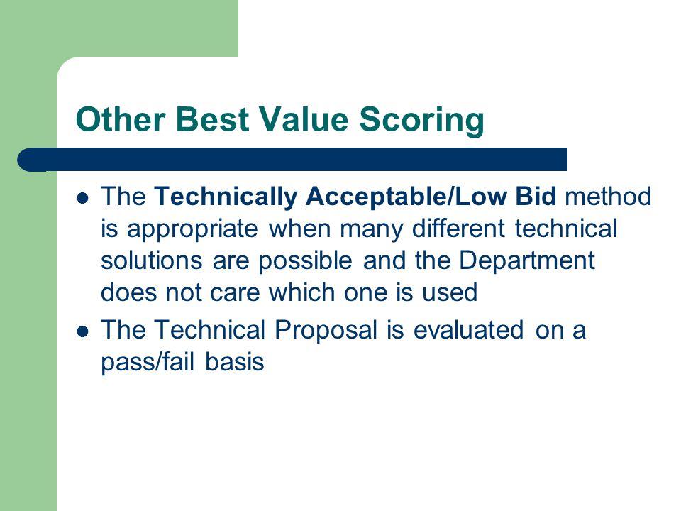 Other Best Value Scoring