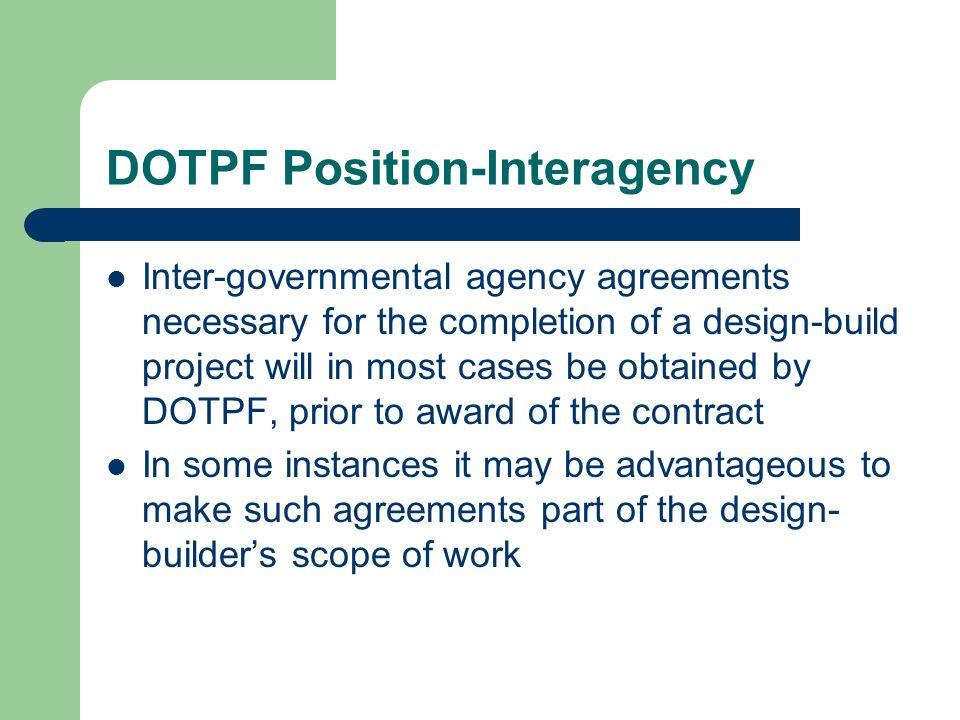 DOTPF Position-Interagency