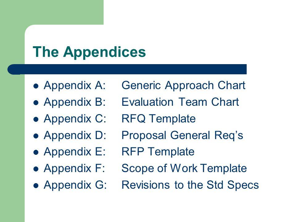 The Appendices Appendix A: Generic Approach Chart