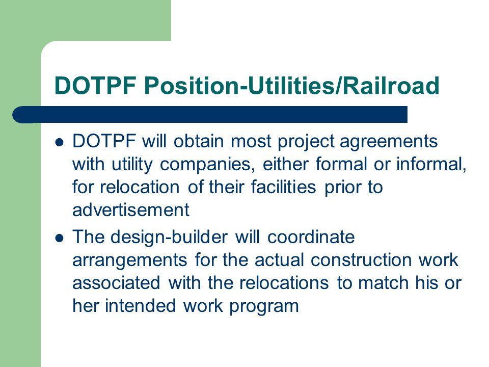 DOTPF Position-Utilities/Railroad
