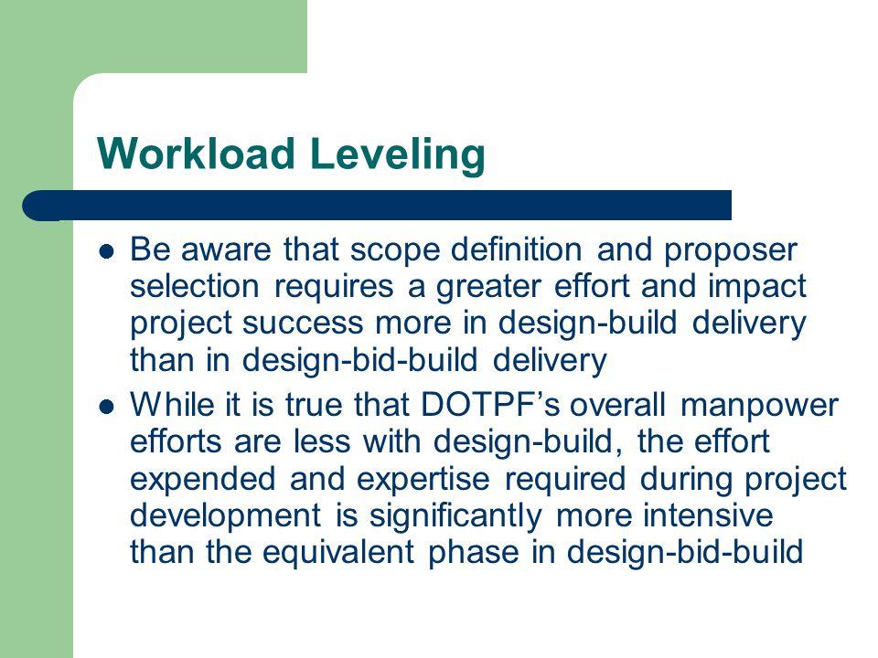 Workload Leveling