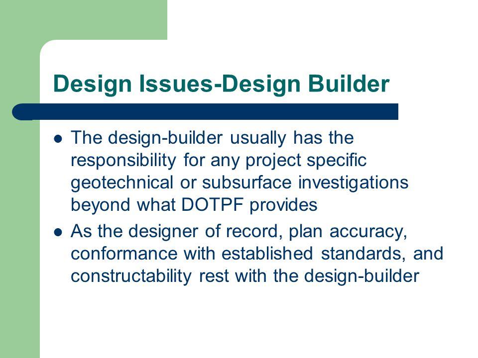 Design Issues-Design Builder