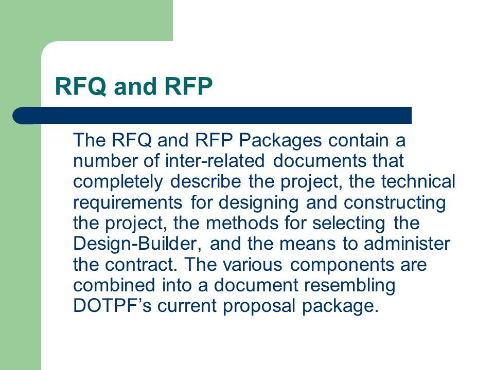 RFQ and RFP