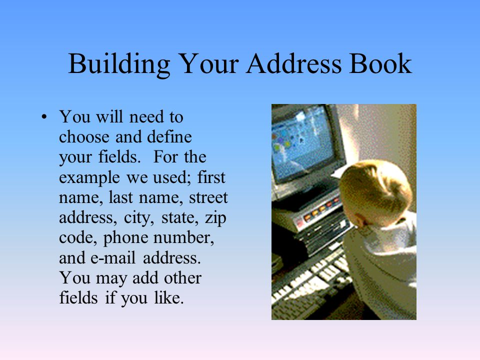 Building Your Address Book