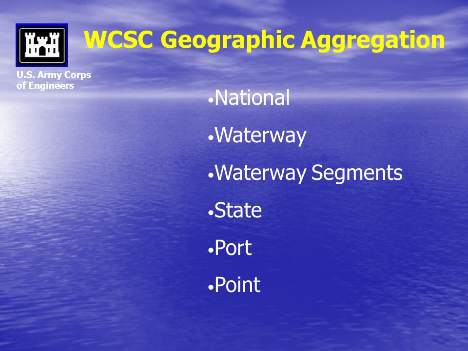 WCSC Geographic Aggregation