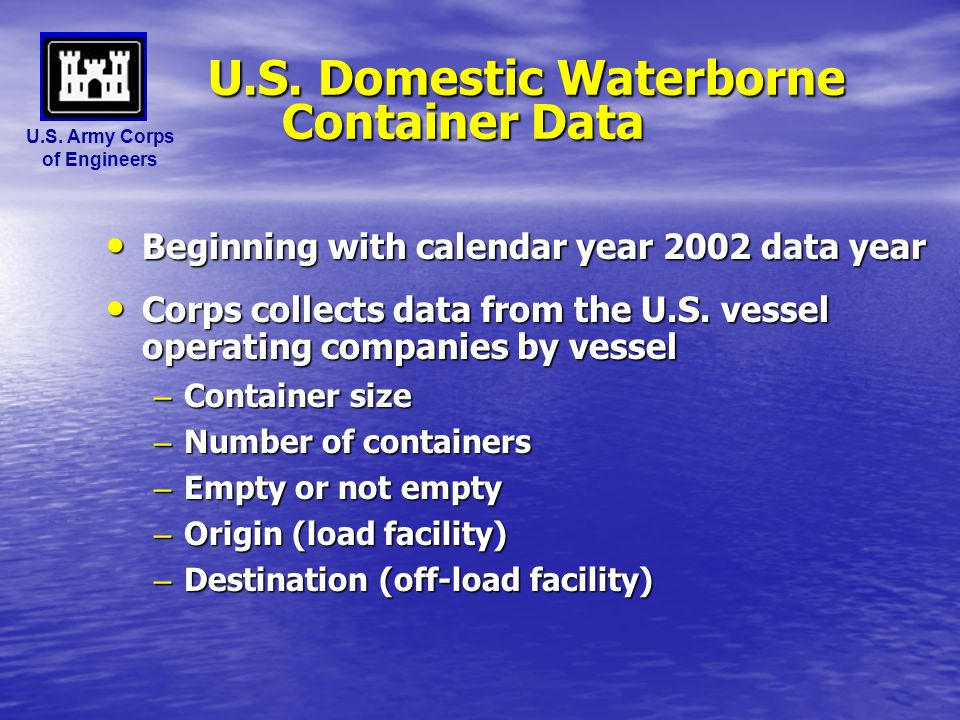 U.S. Domestic Waterborne Container Data
