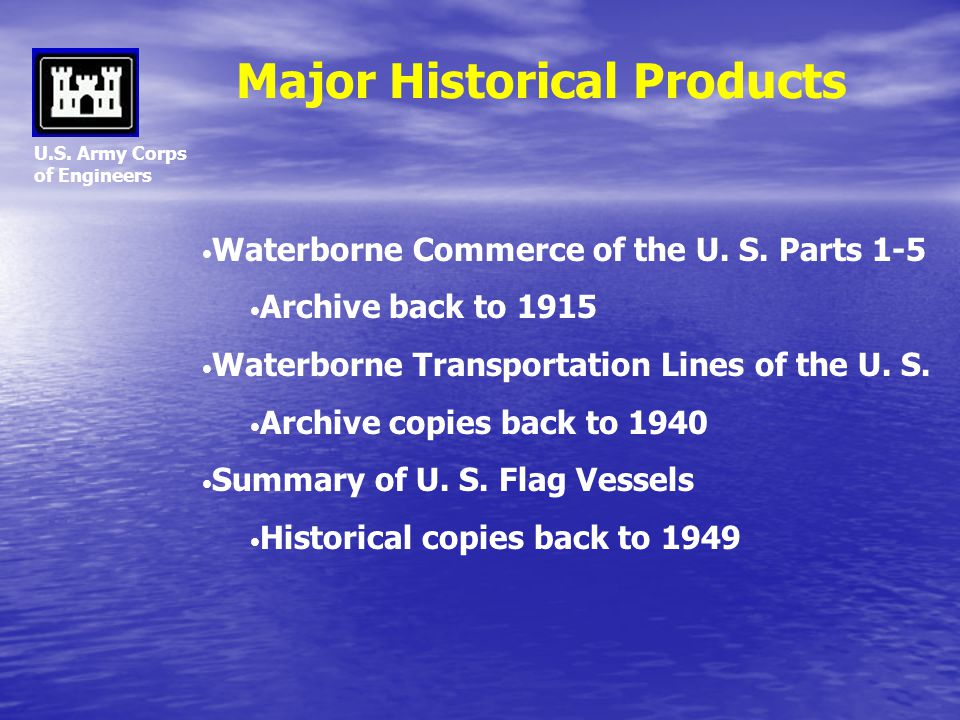 Major Historical Products