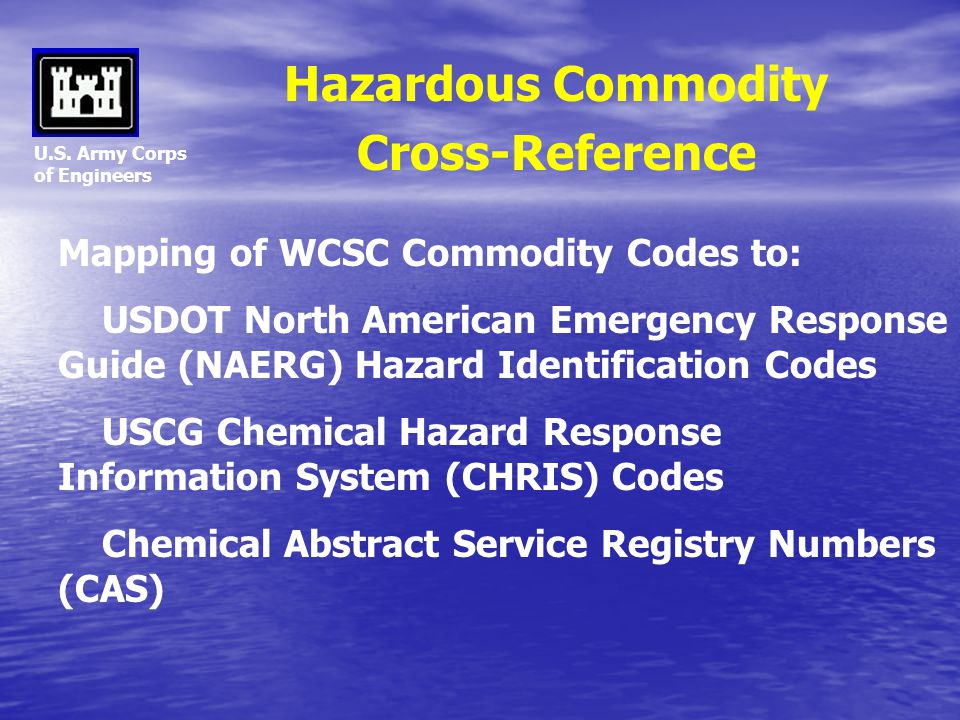 Hazardous Commodity Cross-Reference