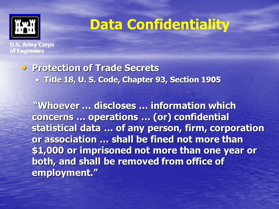 Data Confidentiality Protection of Trade Secrets