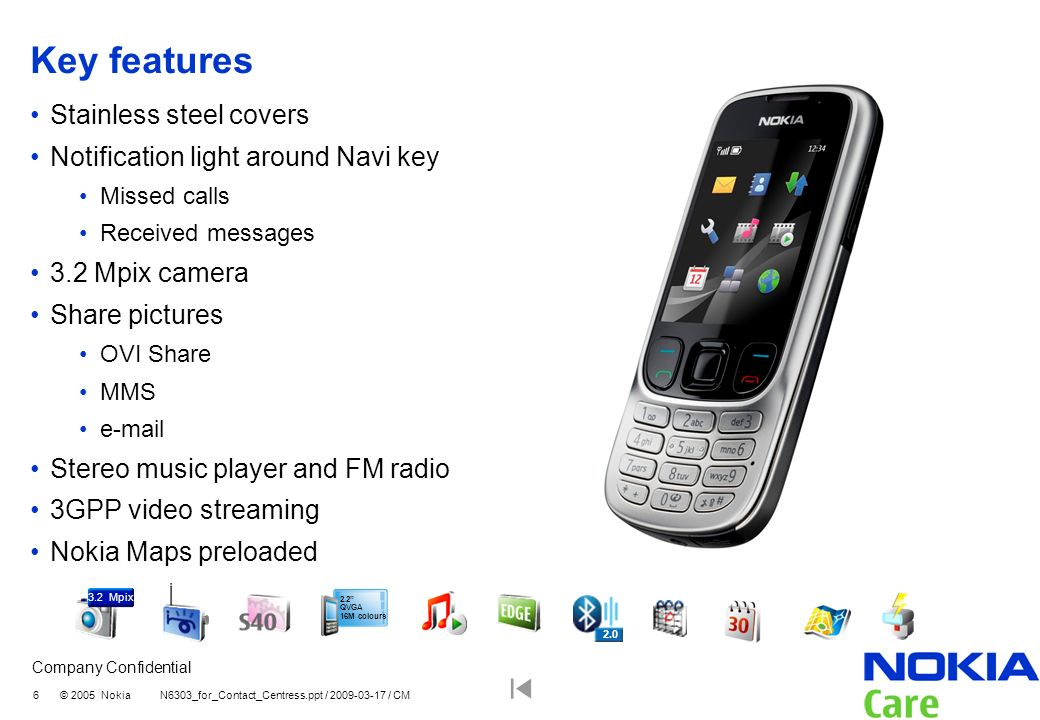 Key features Stainless steel covers Notification light around Navi key